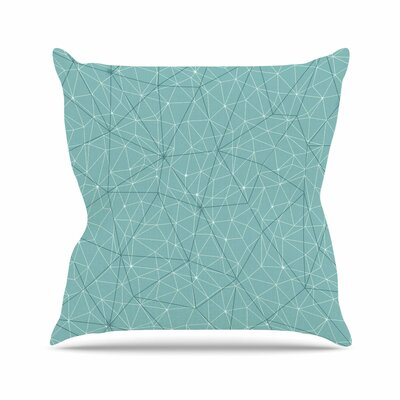 Wanderlust Throw Pillow Size: 18 H x 18 W x 6 D, Color: River