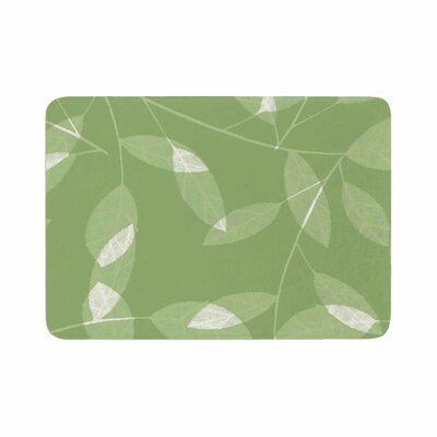 Leaf by Alison Coxon Bath Mat Color: Olive