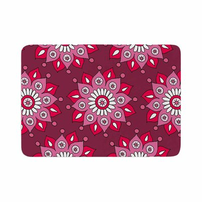 Flower Burst by Sarah Jericho Memory Foam Bath Mat Color: Raspberry