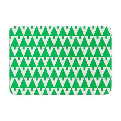 Happy X-Mas by Gabriela Fuente Bath Mat Color: Green, Size: 17W x 24L