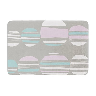 Retro Circles by Emine Ortega Bath Mat Color: Pastel, Size: 24 W x 36 L