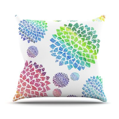 Feel the Rainbow by Catherine Holcombe Throw Pillow Size: 18 H x 18 W x 3 D