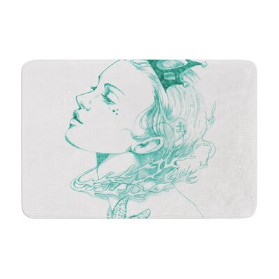 Queen of the Sea by Lydia Martin Bath Mat Color: Green