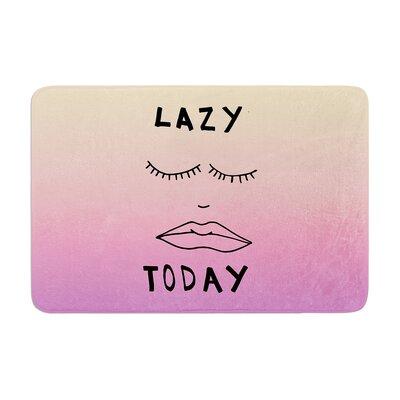 Lazy Today by Vasare Nar Bath Mat Color: Tropical