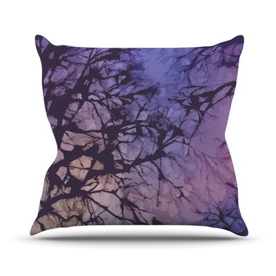 Skies by Alison Coxon Outdoor Throw Pillow Color: Violet