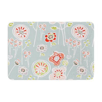 Folky Floral by Gill Eggleston Bath Mat Color: Light Jade, Size: 24 W x 36 L