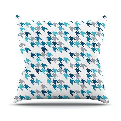 Tooth Outdoor Throw Pillow Color: Blue