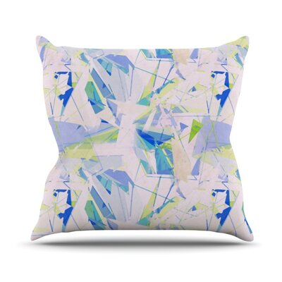 Shatter by Alison Coxon Outdoor Throw Pillow Color: Blue