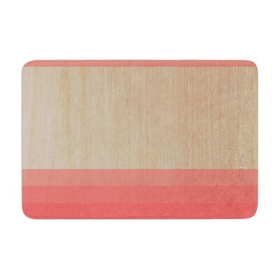 Art by Brittany Guarino Bath Mat Color: Red, Size: 17W x 24L