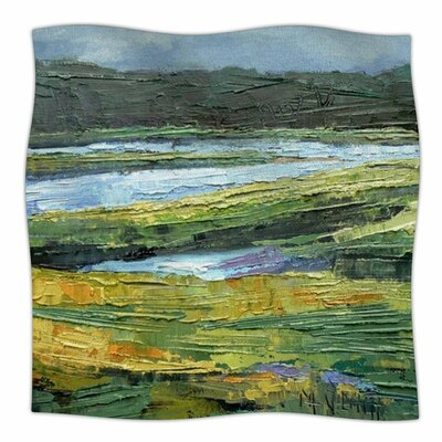 Southern Marsh Throw Blanket Size: 90 L x 90 W