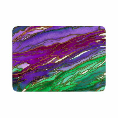 Agate Magic by Ebi Emporium Memory Foam Bath Mat Size: 24 L x 17 W, Color: Lime/Purple