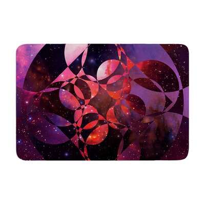 Galactic Brilliance by Matt Eklund Bath Mat Color: Green