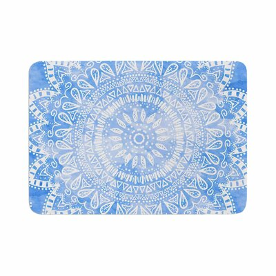 Boho Flower Mandala by Nika Martinez Bath Mat Color: Blue