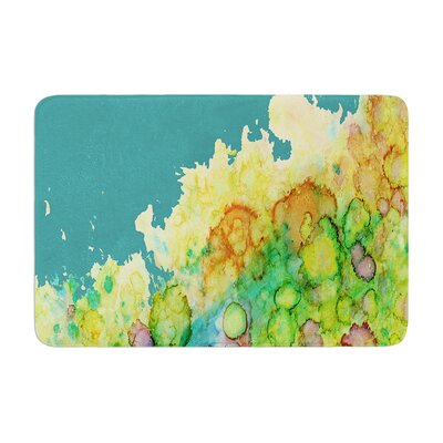 Sea Life by Rosie Brown Bath Mat Color: Teal/Green