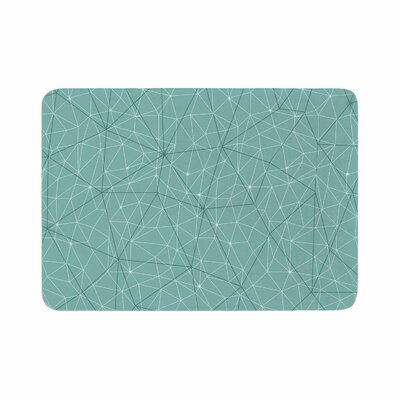 Wanderlust by Michelle Drew Memory Foam Bath Mat Size: 24 L x 17 W, Color: Blue