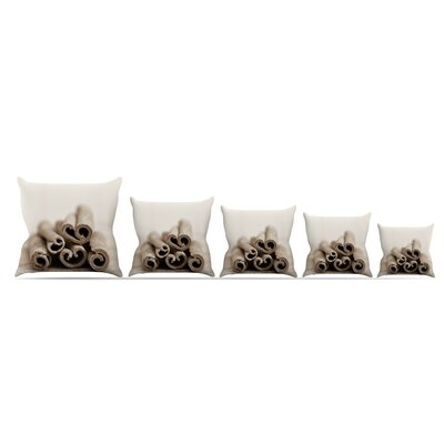 Cinnamon Throw Pillow Size: 16 H x 16 W x 3 D, Color: Gray