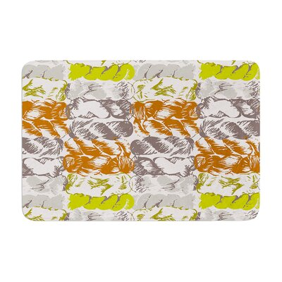 Nice Knot by Fernanda Sternieri Bath Mat Color: Lime/Orange, Size: 24 W x 36 L
