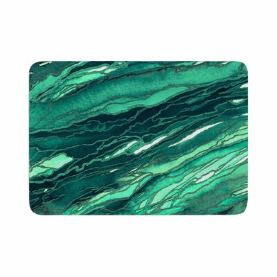 Agate Magic by Ebi Emporium Memory Foam Bath Mat Size: 36 L x 24 W, Color: Teal/Green