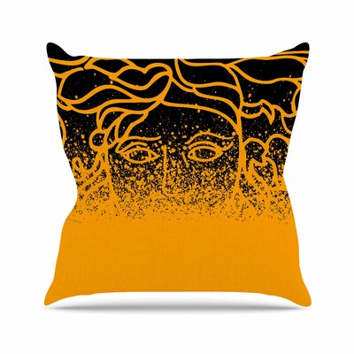Versus Spray Throw Pillow Color: Black / Gold, Size: 26 H x 26 W x 7 D