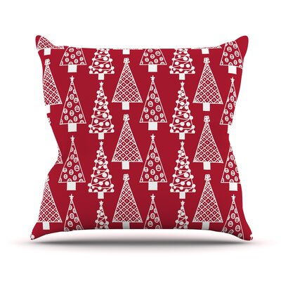 Jolly Trees by Emine Ortega Throw Pillow Size: 26 H x 26 W x 5 D