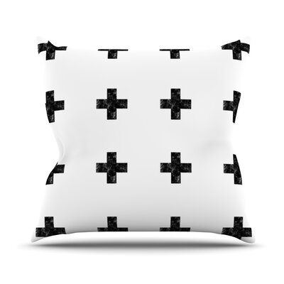 Cross Outdoor Throw Pillow Color: White
