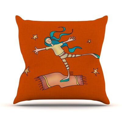 Being Free by Carina Povarchik Throw Pillow Size: 20 H x 20 W x 4 D