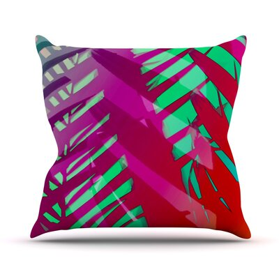 Tropical by Alison Coxon Outdoor Throw Pillow Color: Pink/Red