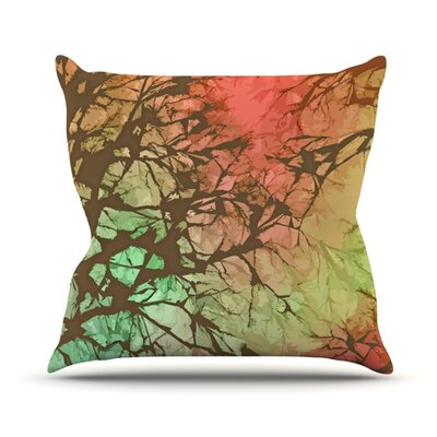 Skies by Alison Coxon Outdoor Throw Pillow Color: Red