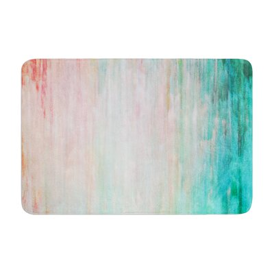 Color Wash by Iris Lehnhardt Bath Mat Color: Teal, Size: 17W x 24L
