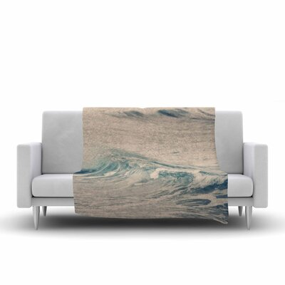 Waves 1 Fleece Throw Blanket Size: 60 L x 50 W