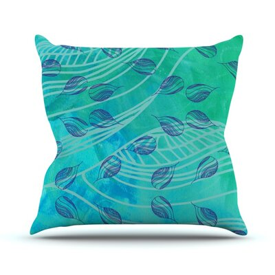 Sweet Summer Swim by Catherine Holcombe Outdoor Throw Pillow Color: Blue