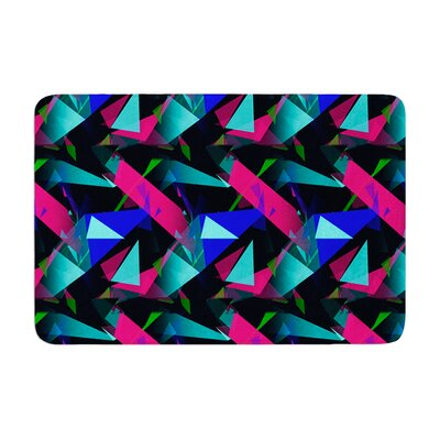 Confetti Triangles by Alison Coxon Bath Mat Color: Dark, Size: 17W x 24L