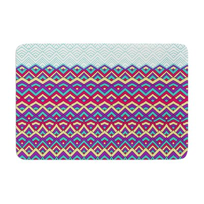 Horizons by Pom Graphic Design Bath Mat Color: Blue