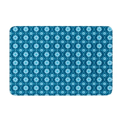 Floral by Nandita Singh Bath Mat Color: Blue