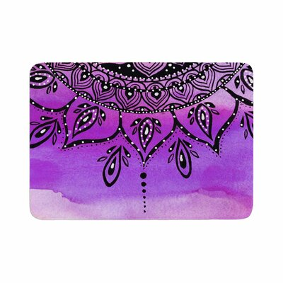 Mandala Art by Li Zamperini Bath Mat Color: Lilac
