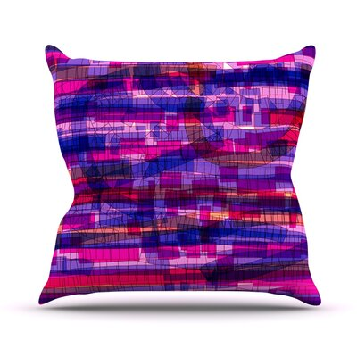 Squares Traffic by Frederic Levy-Hadida Outdoor Throw Pillow Color: Pink