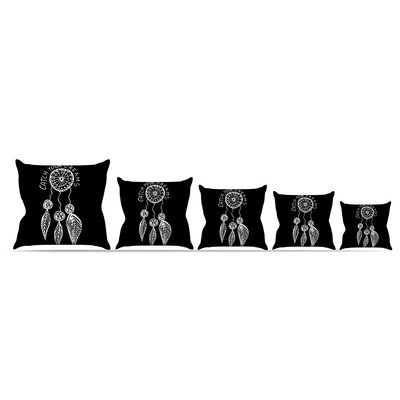Catch Your Dreams Throw Pillow Size: 20 H x 20 W x 4 D, Color: Black