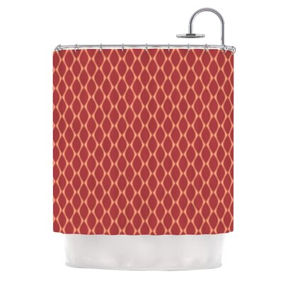 Marsala by Nandita Singh Shower Curtain Color: Red/Peach