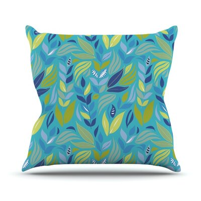 Underwater Bouquet by Michelle Drew Outdoor Throw Pillow Color: Navy
