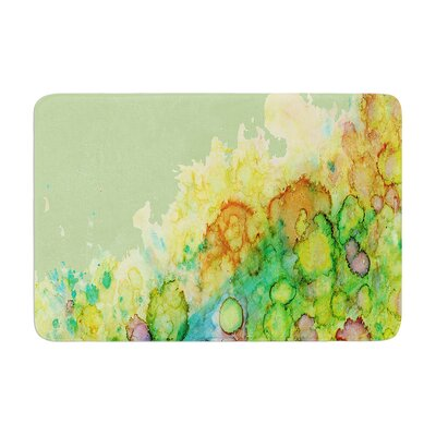 Sea Life by Rosie Brown Bath Mat Color: Green/Yellow