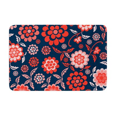 Cherry Floral by Nicole Ketchum Bath Mat Color: Midnight