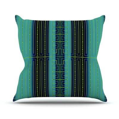Outdoor Throw Pillow Color: Green / Black