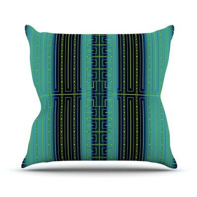Deco City Outdoor Throw Pillow Color: Green / Black