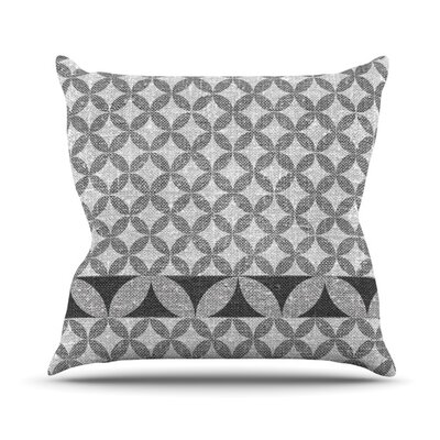 Diamond Outdoor Throw Pillow Color: Black