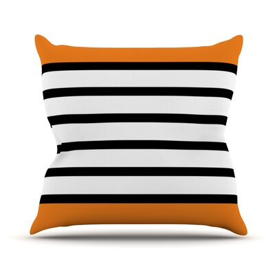 Redaka Outdoor Throw Pillow Color: Orange