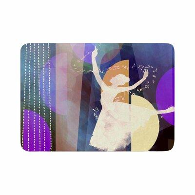 Ballet by AlyZen Moonshadow Memory Foam Bath Mat Color: Blue
