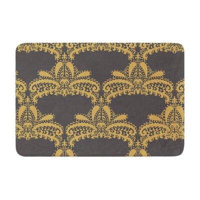 Decorative Motif by Nandita Singh Bath Mat Color: Gold