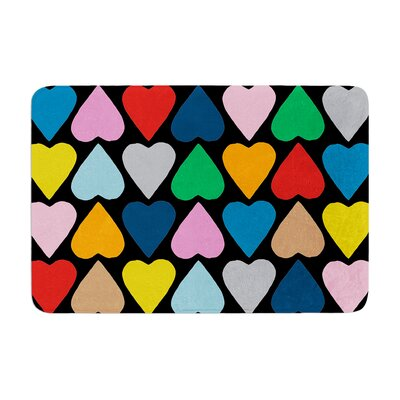 Up and Down Hearts by Project M Bath Mat Color: Multi/Black