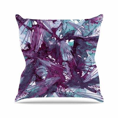 Birds of Prey Throw Pillow Color: Aqua / Purple, Size: 18 H x 18 W x 6 D
