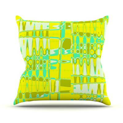 Changing Gears Outdoor Throw Pillow Color: Sunshine